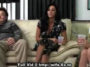 horny pregnant wife switch - Wife Swapping On Sofa