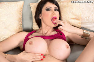 babe eva karera - Brunette Babe Eva Karera spreading her pink Pussy (Photos from Score Land)