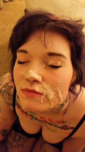 Amateur Double Facial Porn - Enjoying her double facial