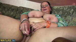 mature bbw solo - Chubby Mature Lady Oiling Up Her Tits And Toying Her Pussy - scene 10