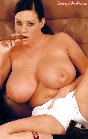 big tit mature smoking - ... Linsey Dawn McKenzie uncovers big boobs and butt while smoking a cigar  ...