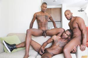 large fat cock group - King B Takes Two Big Black Cocks Up The Ass For His Birthday