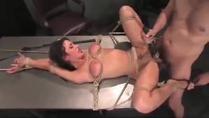 bondage anal vibrator - Bondage sex with anal and a vibrator