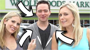 2 Girls Kissing 1 Guy - How Many Girls can One Guy Pick Up at Whole Foods? | Bizarre Foods | How 2  Travelers - YouTube