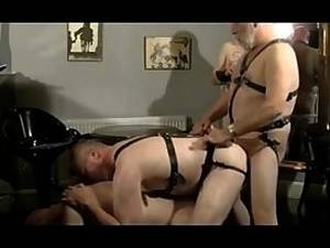 mature leather anal - Mature Dads