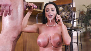 Busty Mom Porn Movies - Busty mom Ariella Ferrera gets huge jizzload on her face