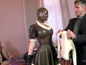 latex lucy xxx - Latex lucy in latex maid