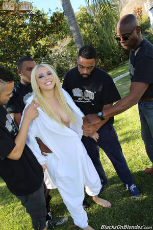 Kagney Blowbang Porn - ... Sexy blonde slut Kagney Linn Karter plays fuck bunny in interracial  gangbang ...
