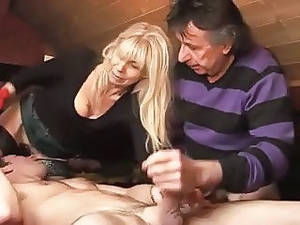amateur french wife threesome - Bisexual French MMF Amateur