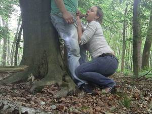Amateur Wife Outdoor - Pretty brunette wife make a risky hell of a blowjob outdoors in a  forest,!damn! - Home Porn Bay