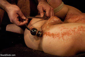femdom anal beads - Get some drops of burning candle wax on his hurt free xxxgay penis! -  XXXonXXX