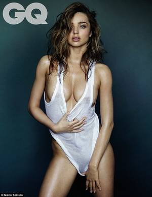 Angel Miranda Kerr Porn - Nude pose: The mother-of-one posed in a string vest and pulled