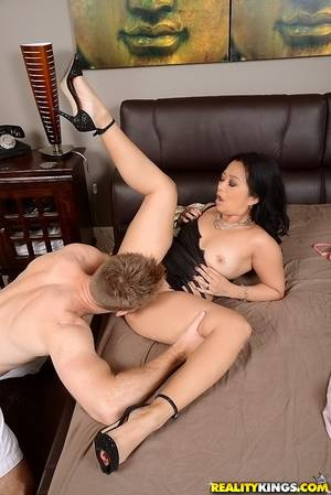 Big Butt Pussy Fucked - ... Big ass asian cougar Lucky giving blowjob and pussy fucking today ...