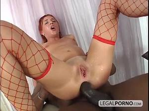 Emo Redhead Anal Porn - Big Ass Redhead – Whore fucked on ass by a big black cock!