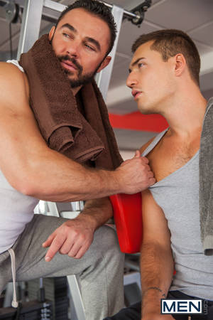guys in gym - Jessy Ares fucks Theo Ford in the gay gym sex scene Here And Now from porn