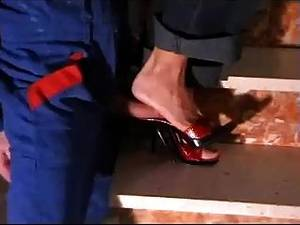 Heels Mule Porn - Red High Heel Mules