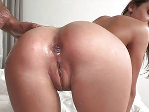 dirty anal cum shots - Foxy Di cum in ass ...