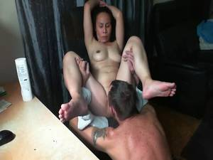 homemade thai orgasm - Mature asian licked and eaten to orgasm watching porn