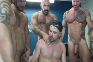 Double Penetration Gay - Latin cock DP And ball cream flow