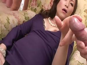 Asian Porn Handjob - HD asian MILF in stockings masturbates