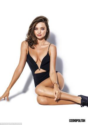 Angel Miranda Kerr Porn - Striking: Miranda Kerr shows off her lithe figure in a series of images  shot for