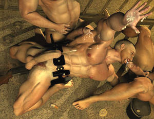 3d Man Boy Gay Porn - ... picture #2 ::: Ripped army men enjoy swimming naked ...