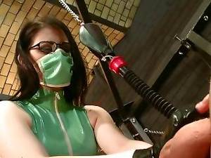 lesbian hentai gloves - Surgical Mask And Gloves Handjob