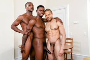 ebony monster cock threesome - Three Black Guys Playing Strip Dominoes With Their Big Black Cocks