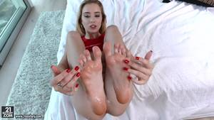 footjob before and after -