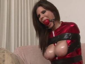 ashley renee fisting - Ashley Renee tape bound and ball-gagged