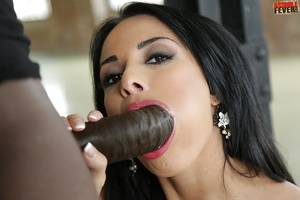 black blowjobs - ... Gorgeous Euro chock Anissa Kate giving a blowjob to a huge black penis  ...