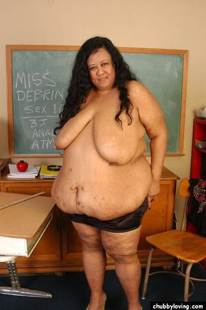 fat latina breasts - ... SSBBW Latina teacher Debrina baring incredible saggy boobs and fat  rolls ...