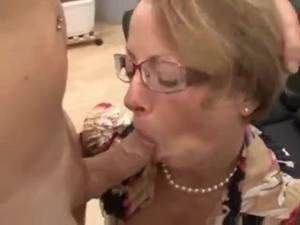 German Mature Porn Cum Shot Gifs - German mature secretary fucked in ass and fisted in threesome