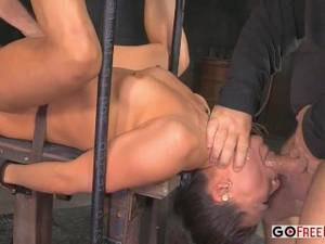 extreme deepthroat huge tits bouncing gifs - KR Extreme Deep Throat Bondage Fuck