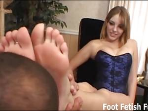 footjob before and after - Worship my feet before I give you a footjob
