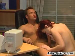 homemade sex in office - Busty Amateur Babe Has Office Sex