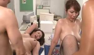 Japan Mom Sexy - Two Chubby Japanese Moms In Sexy Nylons Gets Banged From Behind Right In  The Office - YOUX.XXX
