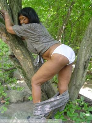 ebony granny fisting - ... Black granny getting naked outdoors and - XXX Dessert - Picture 3