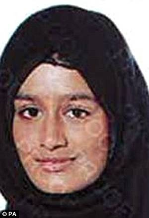British Schoolgirl Porn - Left the country: Shamima Begum (pictured) is one of the girls feared to