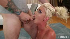 busty blonde blowjob - Sloppiest cocksucking ever from a busty blonde