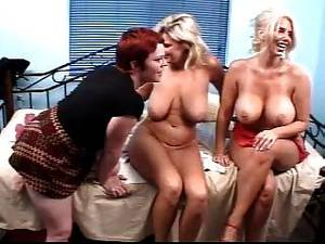 big breast lesbian toys - Lesbian Trio- Huge Toys And Triple Fist