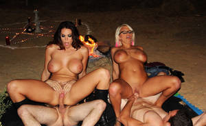 beach party orgies - American Whore Story porn Halloween special starring Jacky Joy & Alison  Tyler satanic witch beach orgy