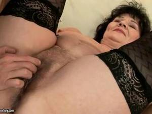 grannie crying first time anal - Fat grandma gets her pussy and ass fucked
