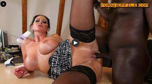blowjob office milf - BumsBuero: Vivian Skylight - Hardcore interracial action at the office with  voluptuous German MILF (