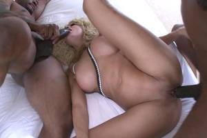 interracial double penetration threesome - Interracial double penetration threesome