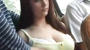 huge tits bus - on bus tits Big