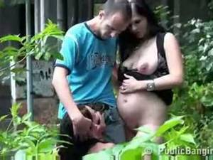 Homemade Wife Public Sex - Risky public threesome with a pregnant woman way cool
